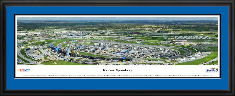 Racing - NASCAR Tracks - Kansas Speedway Aerial - Framed Picture