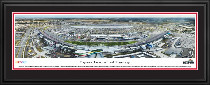 Racing - NASCAR Tracks - Daytona Intl Speedway Aerial - Day - Framed Picture