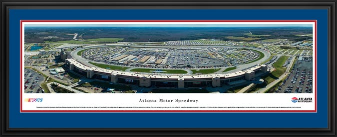 Racing - NASCAR Tracks - Atlanta Motor Speedway Aerial - Framed Picture