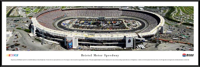 Racing - NASCAR Tracks - Bristol Motor Speedway Aerial - Day - Framed Picture
