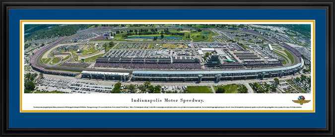 Racing - NASCAR Tracks - Indianapolis Motor Speedway Aerial - Framed Picture