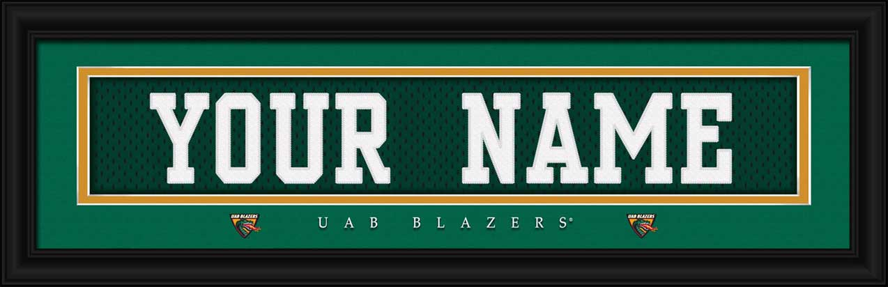 College - Alabama Birmingham Blazers - Personalized Jersey Nameplate - Framed Picture