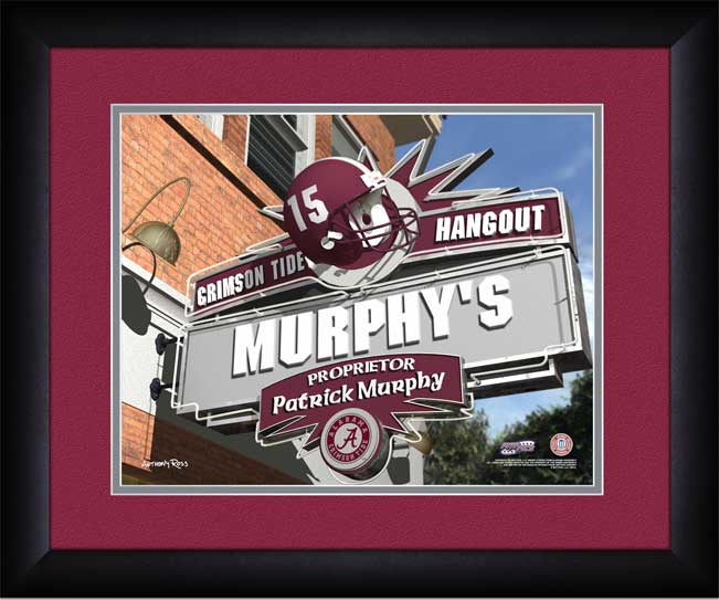 College - Alabama Crimson Tide - Personalized Hangout Sign - Framed Picture