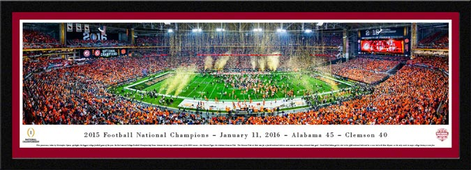 College - Alabama Crimson Tide - 2015 Football National Champions - Framed Picture