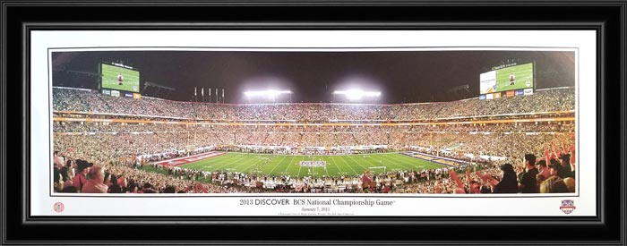 College - Alabama Crimson Tide - 2013 BCS National Champions - Framed Picture