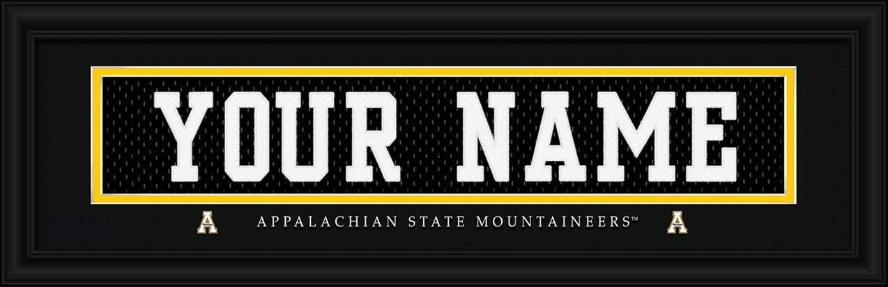 College - Appalachian State Mountaineers - Personalized Jersey Nameplate - Framed Picture