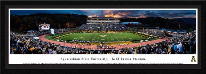 College - Appalachian State Mountaineers - Kidd Brewer Stadium - Framed Picture