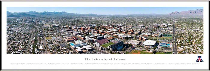 College - Arizona Wildcats - Tucson Campus with Arizona Stadium - Framed Picture