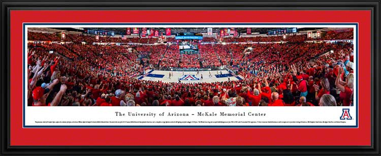 College - Arizona Wildcats - McKale Memorial Center - 2015 - Framed Picture
