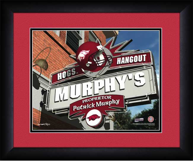 College - Arkansas Razorbacks - Personalized Hangout Sign - Framed Picture