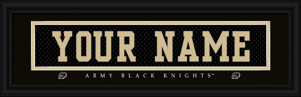 College - Army Black Knights - Personalized Jersey Nameplate - Framed Picture