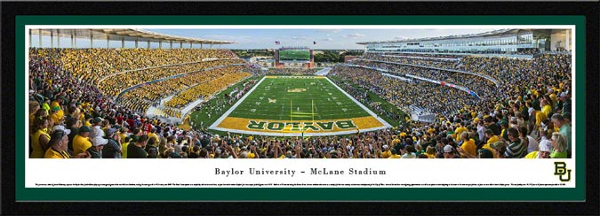 College - Baylor Bears - McLane Stadium - End Zone - Framed Picture