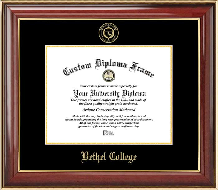 College - Bethel College (IN) Pilots - Embossed Seal - Mahogany Gold Trim - Diploma Frame