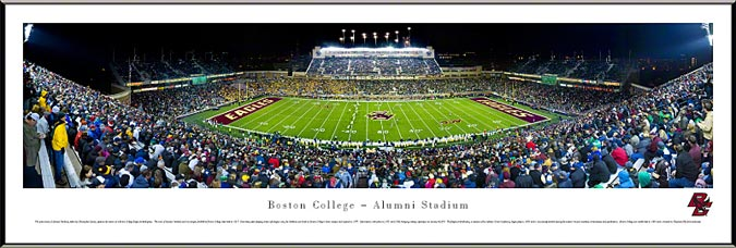 College - Boston Eagles - Alumni Stadium - Framed Picture