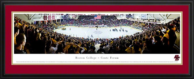College - Boston Eagles - Conte Forum - Kelley Rink - Framed Picture
