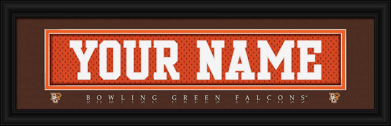 College - Bowling Green State Falcons - Personalized Jersey Nameplate - Framed Picture