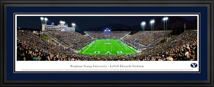 College - Brigham Young Cougars - LaVell Edwards Stadium - End Zone - Framed Picture