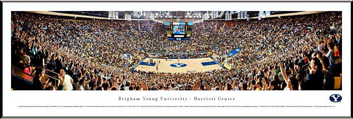 College - Brigham Young Cougars - Marriott Center - Framed Picture