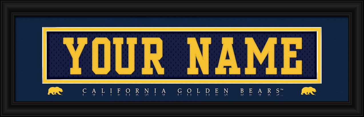 College - California Golden Bears - Personalized Jersey Nameplate - Framed Picture