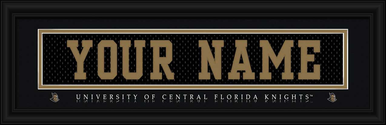 College - Central Florida Knights - Personalized Jersey Nameplate - Framed Picture
