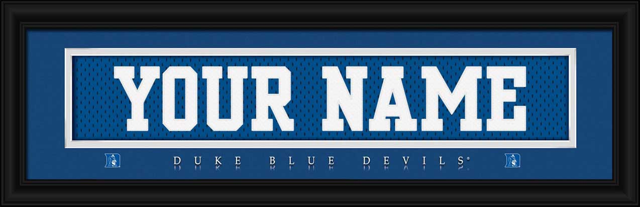 College - Duke Blue Devils - Personalized Jersey Nameplate - Framed Picture