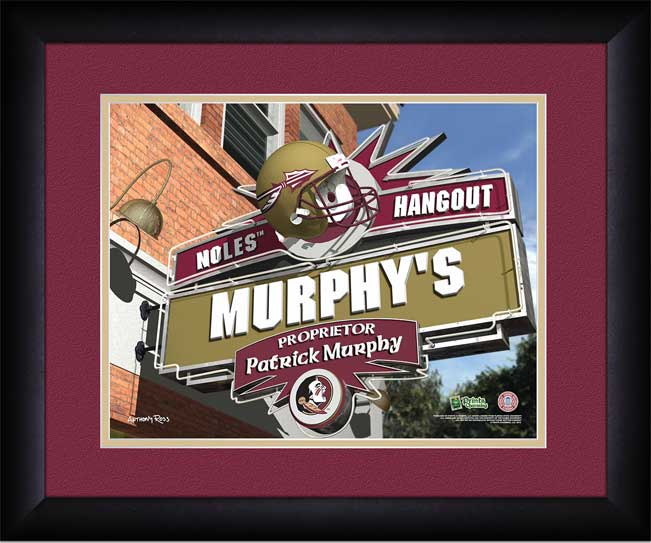 College - Florida State Seminoles - Personalized Hangout Sign - Framed Picture