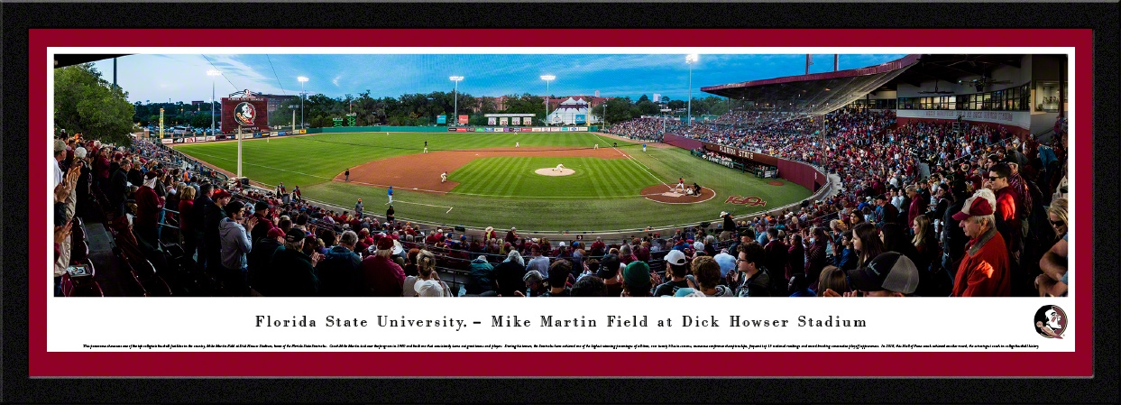 College - Florida State Seminoles - Mike Martin Field at Dick Howser Stadium - Framed Picture