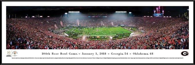 College - Georgia Bulldogs - 2018 Rose Bowl Champions - Framed Picture