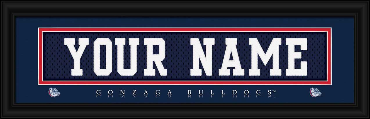 College - Gonzaga Bulldogs - Personalized Jersey Nameplate - Framed Picture