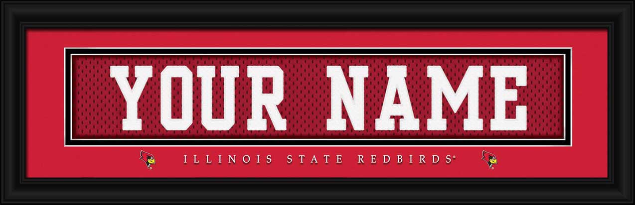 College - Illinois State Redbirds - Personalized Jersey Nameplate - Framed Picture
