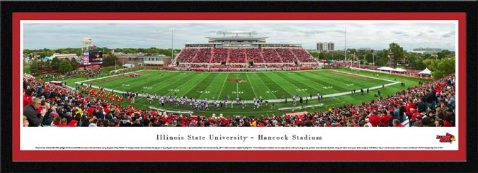 College - Illinois State Redbirds - Hancock Stadium - Framed Picture