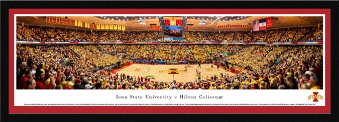 College - Iowa State Cyclones - Hilton Coliseum - Framed Picture