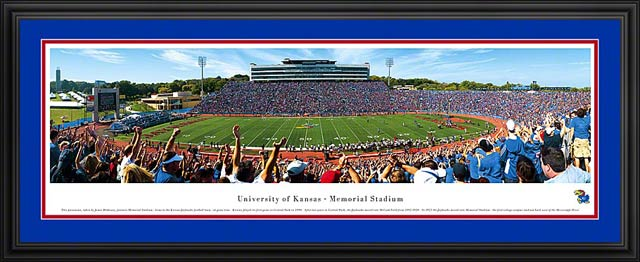 College - Kansas Jayhawks - Memorial Stadium - Framed Picture