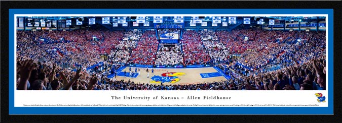 College - Kansas Jayhawks - Allen Fieldhouse 2016 - Framed Picture