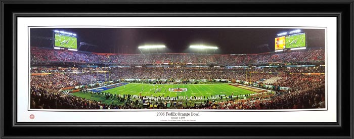 College - Kansas Jayhawks - 2008 Orange Bowl - Framed Picture