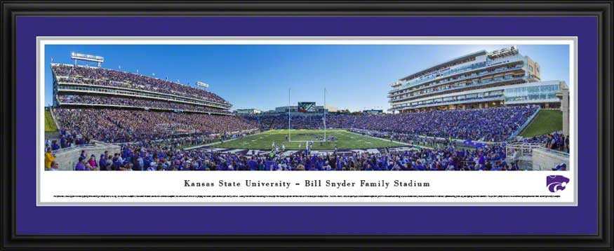 College - Kansas State Wildcats - Bill Snyder Family Stadium 2013 - Framed Picture