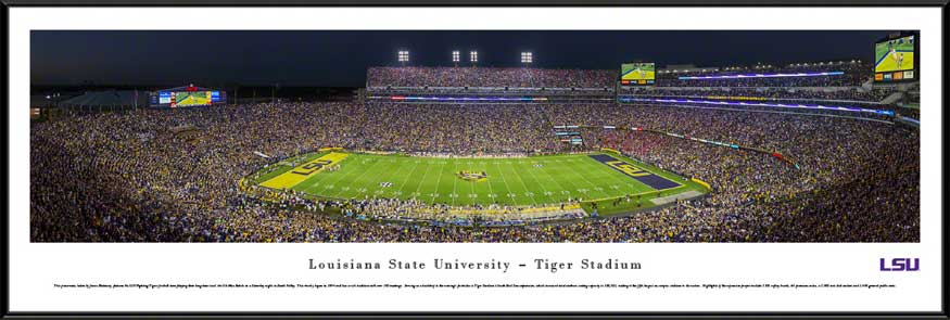 College - Louisiana State Tigers - Tiger Stadium - Magnolia Bowl 2014 - Framed Picture