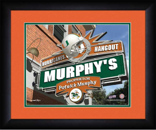 College - Miami Hurricanes - Personalized Hangout Sign - Framed Picture
