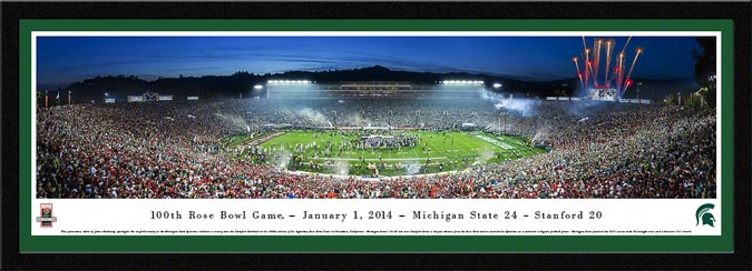 College - Michigan State Spartans - 2014 Rose Bowl Champions - Framed Picture