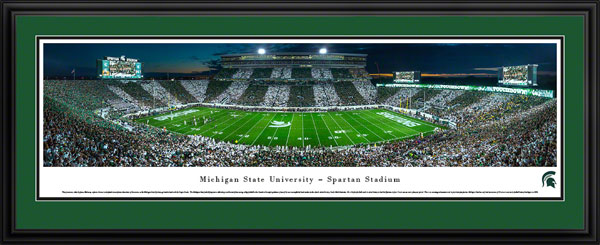College - Michigan State Spartans - Spartan Stadium - Stripe the Stadium - Framed Picture