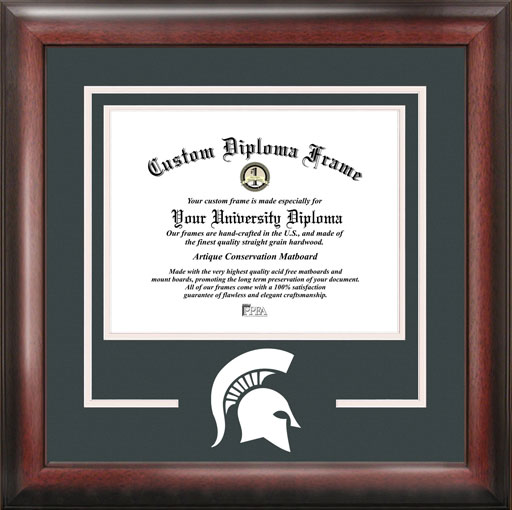 College - Michigan State University Spartans - College Mascot - Spirit Mat Cutout - Diploma Frame