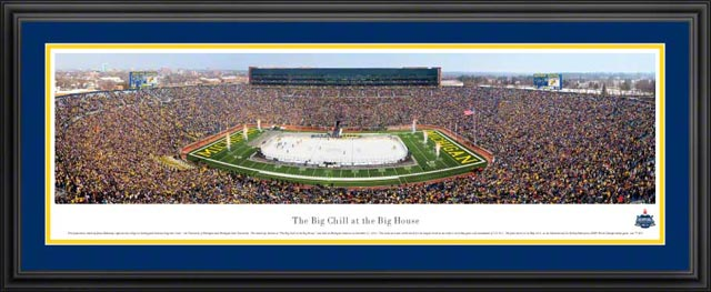 College - Michigan Wolverines - Big Chill at the Big House - Framed Picture