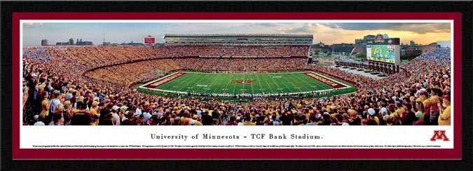 College - Minnesota Golden Gophers - TCF Bank Stadium - Framed Picture