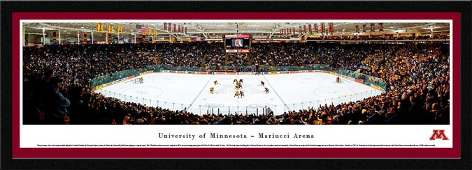 College - Minnesota Golden Gophers - Mariucci Arena - Framed Picture