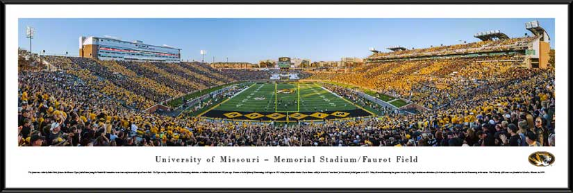 College - Missouri Tigers - Faurot Field - Tiger Stripe the Zou - Framed Picture
