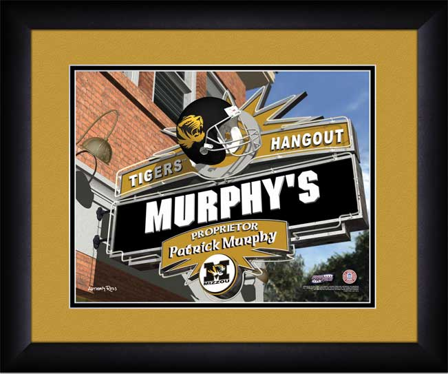 College - Missouri Tigers - Personalized Hangout Sign - Framed Picture