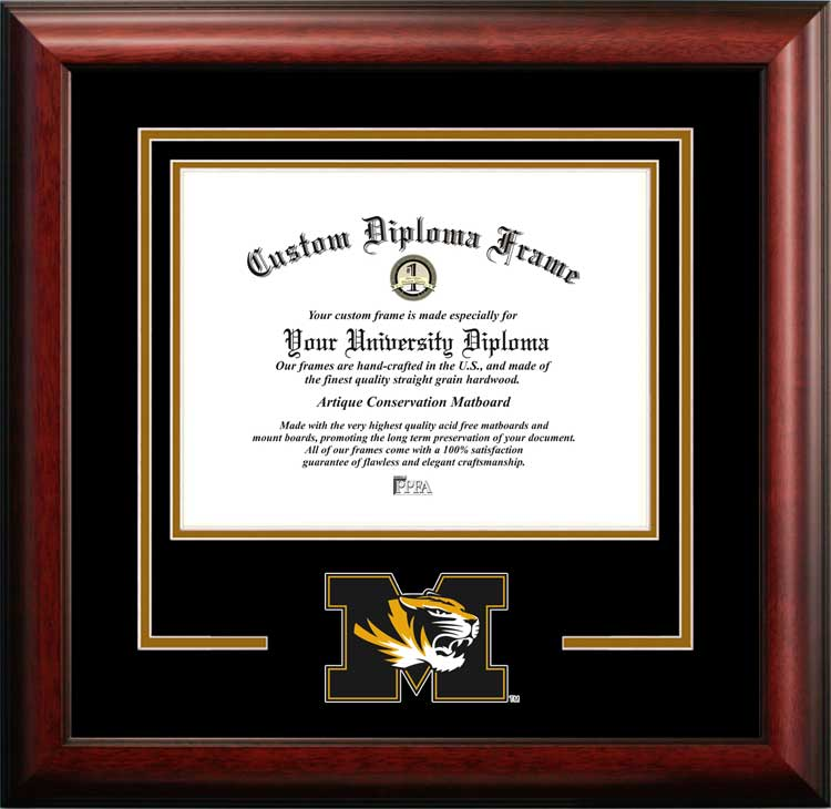 College - University of Missouri-Columbia Tigers - College Mascot - Spirit Mat Cutout - Diploma Frame