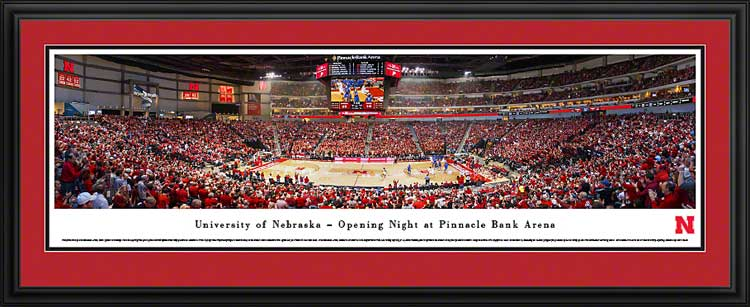 College - Nebraska Cornhuskers - Pinnacle Bank Arena - Framed Picture