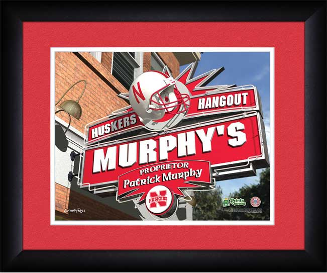 College - Nebraska Cornhuskers - Personalized Hangout Sign - Framed Picture