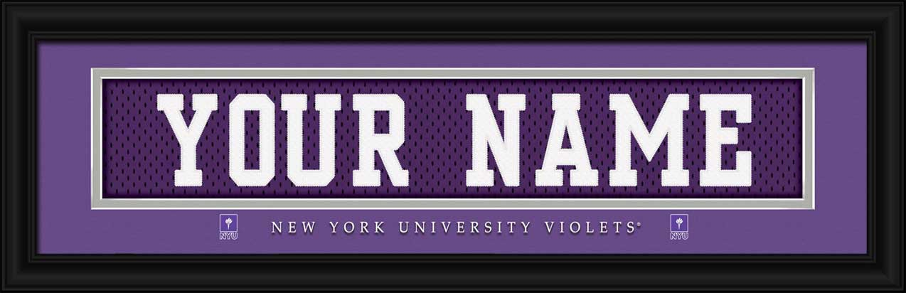 College - New York Violets - Personalized Jersey Nameplate - Framed Picture